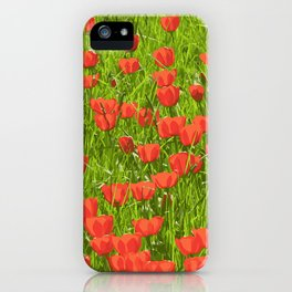 tulips field iPhone Case