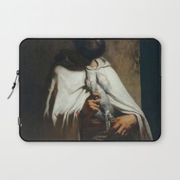 Louis Gallait - Portrait du peintre et graveur Charles Cousin en costume arabe Laptop Sleeve