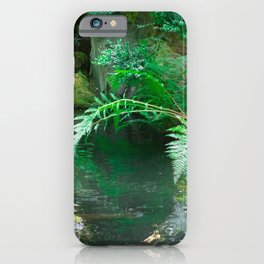 Koi pond in Japanese Zen Garden iPhone Case
