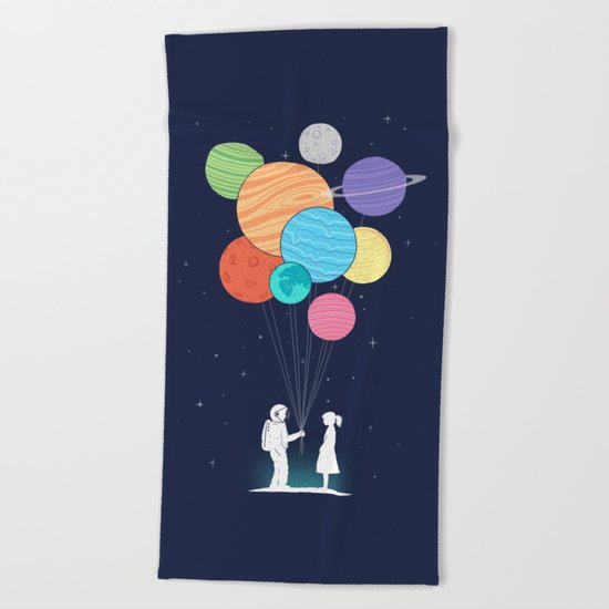 You are my universe Beach Towel