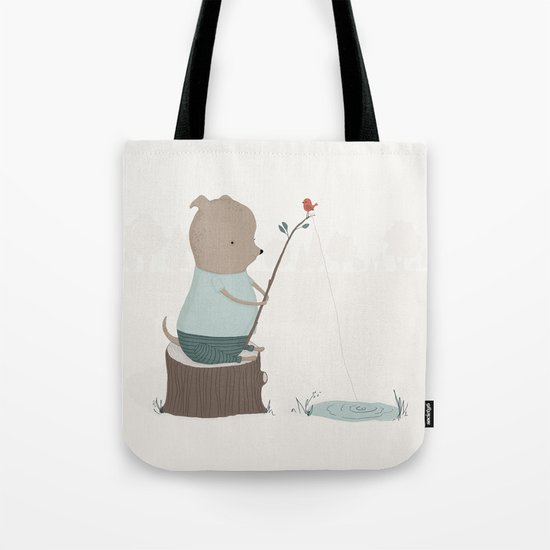 Oliver Goes Fishing Tote Bag