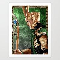 loki Art Prints featuring Loki by Natalie Nardozza