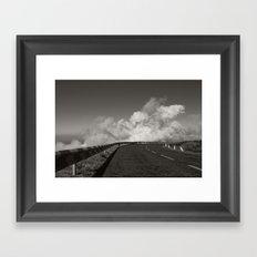 Kiss the clouds Framed Art Print