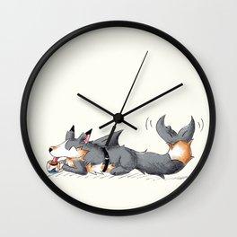Secret Shark Sipper Wall Clock