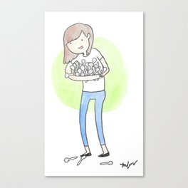 Spoonie Girl Canvas Print