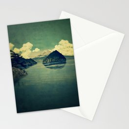 Distant Blues Stationery Cards
