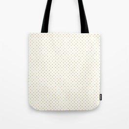 Small Gold Watercolor Polka Dot Pattern Tote Bag