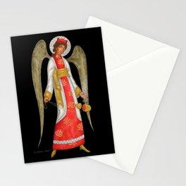 modern folk icon - Angel with censer Stationery Cards