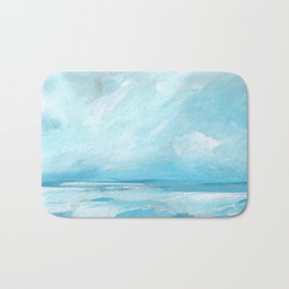 Resurgence - Stormy Ocean Seascape Bath Mat