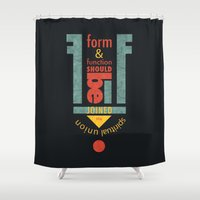 engineer Shower Curtains featuring Form & Function by Schwebewesen • Romina Lutz