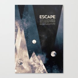 Escape, from planet earth Canvas Print