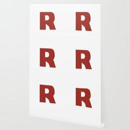 Letter R on White Wallpaper