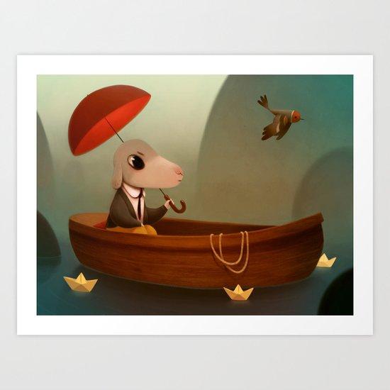 My little Boat Art Print