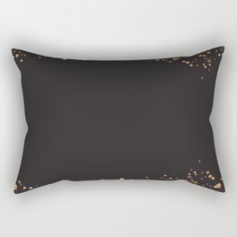 Black and gold #society6 Rectangular Pillow