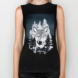 Forest Wolf Art Biker Tank