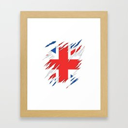 Torn Flag UK Framed Art Print