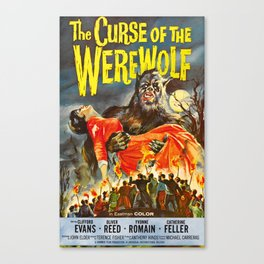 The Curse of the Werewolf, vintage horror movie poster Canvas Print