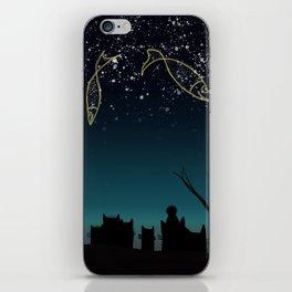 Fish constellation iPhone Skin