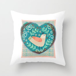 I Heart U! Throw Pillow
