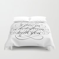hologram Duvet Covers featuring I Live In A Hologram With You by Kat Scott