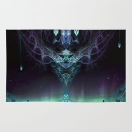 Midnight Aura - Fractal Manipulation - Manafold Art Rug