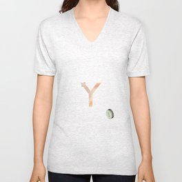 Y is for yoyo - Letter Y Monogram Unisex V-Neck