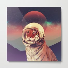 Cosmos Cat Metal Print