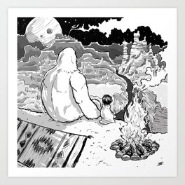 Rest For the Night Art Print
