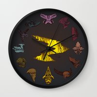 pacific rim Wall Clocks featuring Pacific Rim Kaiju Clock by feriowind