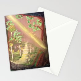 Faery forest cave Stationery Cards