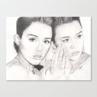 miley Canvas Prints featuring miley vs. miley by als3