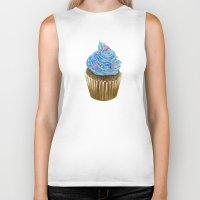 "cupcake Biker Tanks featuring ""Cupcake"" by Allana Vazquez"