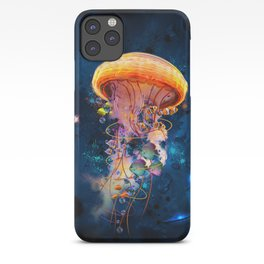 Electric Jellyish World iPhone Case