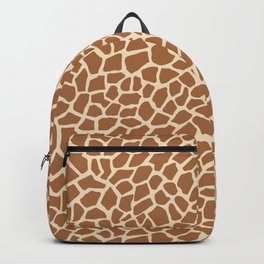 Giraffe Animal Print Pattern Backpack