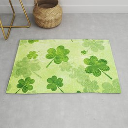 Green Shamrocks Rug