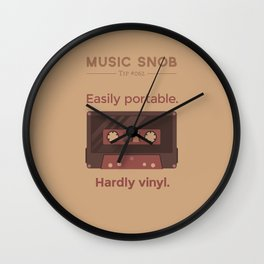 Cassettes. — Music Snob Tip #062 Wall Clock