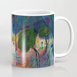 'The Love Vortex - Star-crossed Lovers' Variation 2 mountain landscape by Marianne Von Werefkin Coffee Mug
