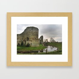 Pevensey Bay Castle. Framed Art Print