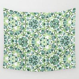 Green petal kaleidoscope  Wall Tapestry