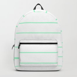 SKINNY STRIPE ((seafoam green)) Backpack