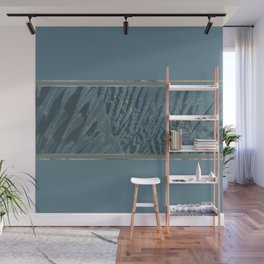 Blueprint  Feather and Gold 2 Wall Mural