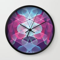 psychedelic Wall Clocks featuring Psychedelic by Scar Design