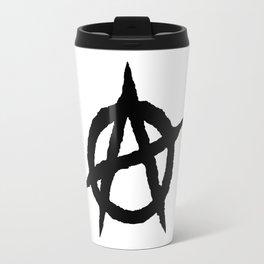 Anarchy symbol black Travel Mug