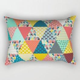 llama geo triangles Rectangular Pillow