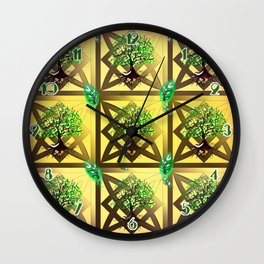 Celtic Tree Pattern Wall Clock