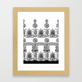 Fret Framed Art Print