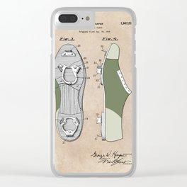 patent Harper Baseball cleat 1928 Clear iPhone Case