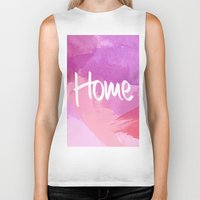water colour Biker Tanks featuring Water Colour Home by Ladsandstuff