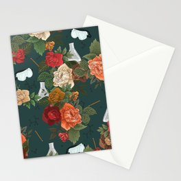 Chemistry Floral Stationery Cards