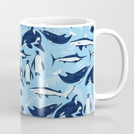Marine Life Pattern Coffee Mug